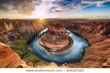 view of grand canyon cliffs and colorado river Stock photo © dolgachov