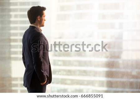 Elegant Business man working new business strategy plan in offic stock photo © Freedomz