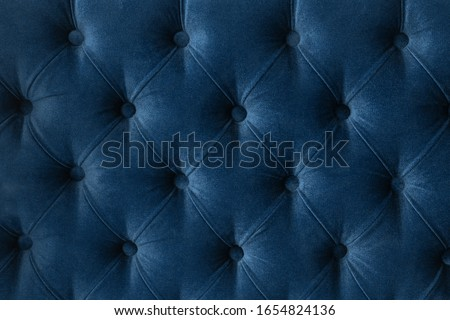 Luxury velour quilted sofa upholstery with buttons, elegant home Stock photo © Anneleven