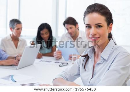 Vista lateral bastante feminino executivo diverso Foto stock © wavebreak_media