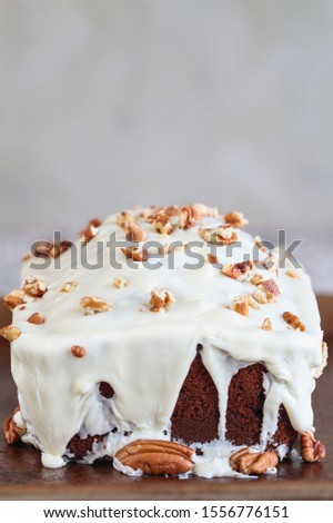 Homemade Cranberry Sweet Bread with Pecans and White Chocolate C Stock photo © StephanieFrey