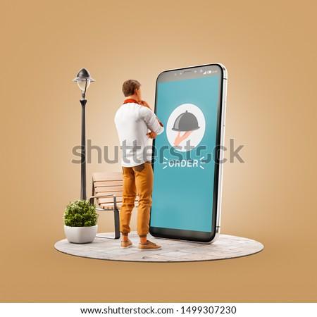 интернет мобильных смартфон быстро доставки Сток-фото © benzoix