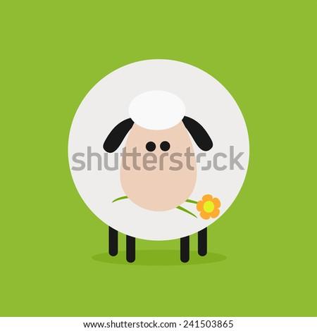 面白い 白 羊 花 現代 デザイン ストックフォト © hittoon