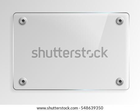 Vidrio placas establecer banners transparente textura Foto stock © olehsvetiukha