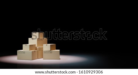 Chiuso cartone scatole nero illustrazione 3d copia spazio Foto d'archivio © make