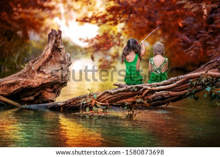 Jongen meisje kinderen jaren oude vergadering Stockfoto © ElenaBatkova