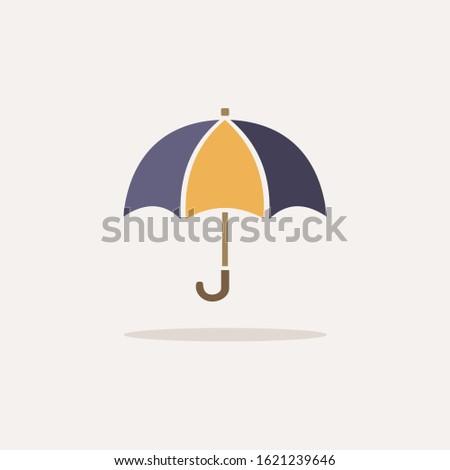Guarda-chuva ícone sombra bege fundo chuva Foto stock © Imaagio