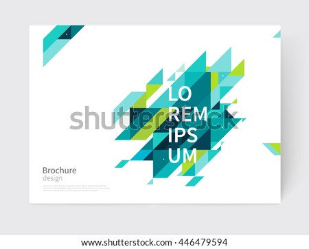 geometric green abstract annual report flyer business template Stock photo © SArts