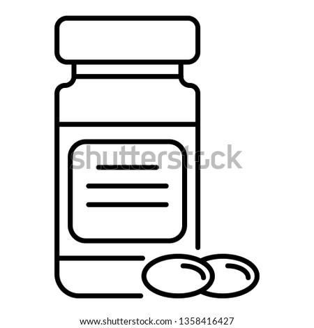 Omega3 olaj kapszulák vitamin egészségügy iskolatábla Stock fotó © marylooo