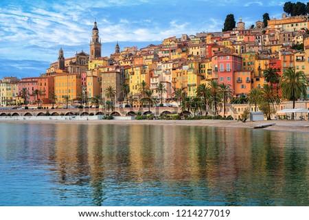 Colorido cidade praia arquitetura ver departamento Foto stock © xbrchx
