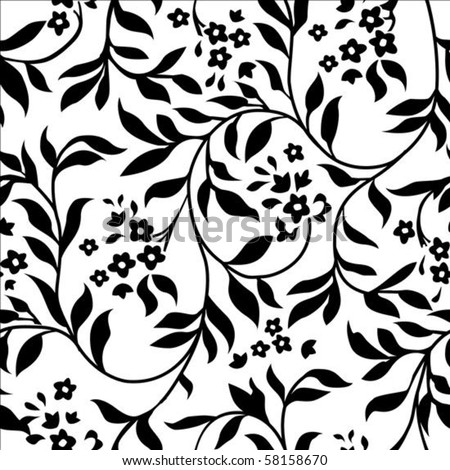 Zwart wit bladeren wijnstokken naadloos herhalen vector Stockfoto © jeff_hobrath
