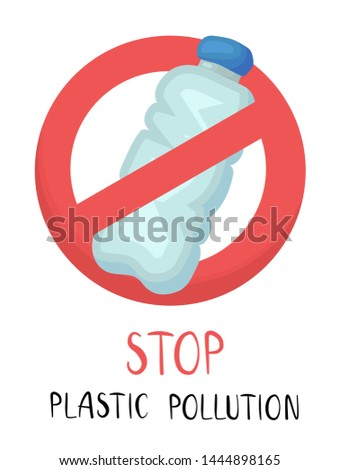 protest against plastic garbage. Environmental concept. Ban single use plastic. Crossed out disposab Stock photo © galitskaya