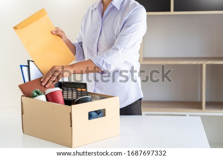 Businessman sending resignation letter to the executive employer Stock photo © snowing