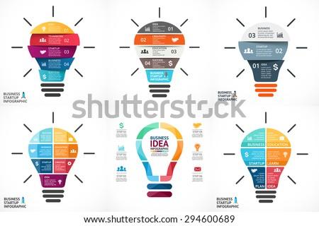Abstract business lampadine infografica modello opzioni Foto d'archivio © ukasz_hampel