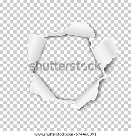 Papír lyuk valósághű vektor szakadt papír szakadt Stock fotó © designer_things