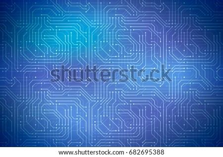 Complicated computer microchip on blue, abstract horizontal background Stock photo © evgeny89