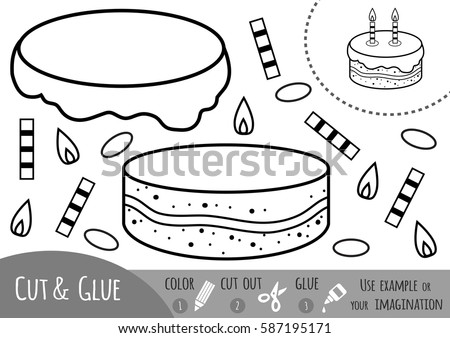 Education game for children. Cake. Use scissors and glue to create the image. Stock photo © natali_brill