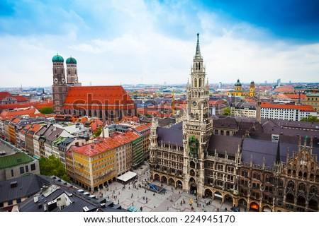 Yeni belediye binası Bina şehir merkez Münih Stok fotoğraf © artjazz
