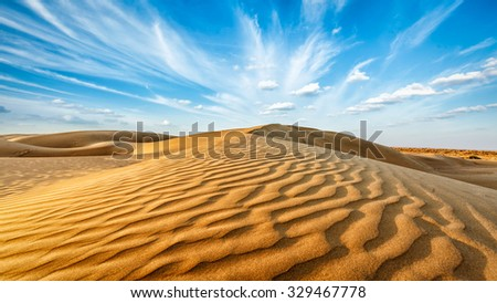 パノラマ 砂漠 インド 砂 空 日没 ストックフォト © dmitry_rukhlenko