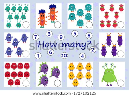 counting monster characters educational task for kids Stock photo © izakowski