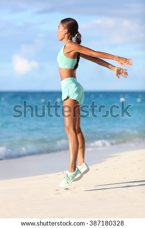 Active young fit woman doing bodyweight glute leg exercise on outdoor grass. Fitness girl exercising Stock photo © Maridav