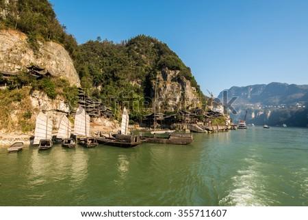 mountains along the Yangtze River Stock photo © prill
