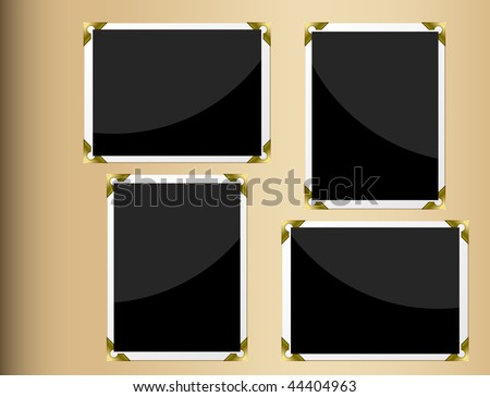 Photo album page with horizontal and vertical blank photographs. Stock photo © tuulijumala