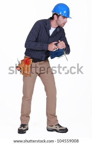 Tradesman staring at the floor Stock photo © photography33