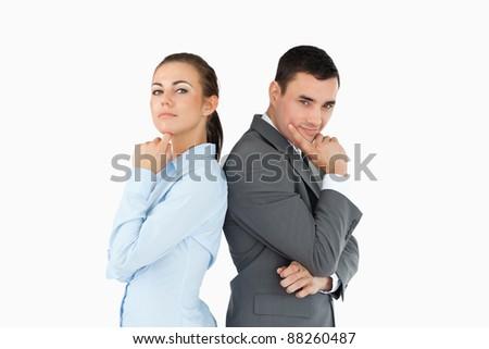 Parteneri de afaceri ganduri alb afaceri mână fericit Imagine de stoc © wavebreak_media