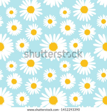 flower camomile seamless pattern pastel background daisies medical vector sketch illustration stock photo © hermione