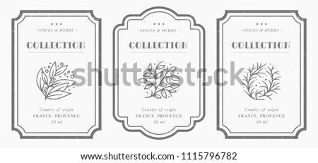 white label with herbs Stock photo © Nelosa