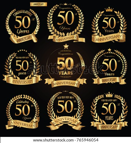 50 anni anniversario sigillo nastro illustrazione Foto d'archivio © alexmillos
