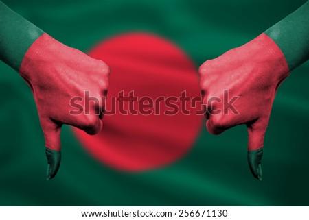 Бангладеш флаг большой палец руки вниз жест провал Сток-фото © vepar5