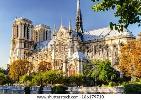 реке · Париж · собора · Франция · дерево - Сток-фото © sailorr