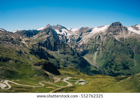 peak of Grossglockner High Alpine Road, Carinthia and East Tyrol Stock photo © phbcz