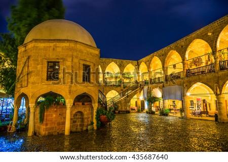 Buyuk Han (the Great Inn), largest caravansarai in Cyprus. Nicosia Stock photo © Kirill_M