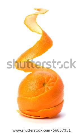 spirál · héj · mandarin · izolált · fehér · háttér - stock fotó © natika