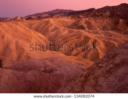 furnace creek zabriskie point death valley national park cali stock photo © bmonteny