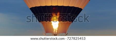 Yangın hava içinde Sıcak hava balonu balon festival Stok fotoğraf © alex_grichenko