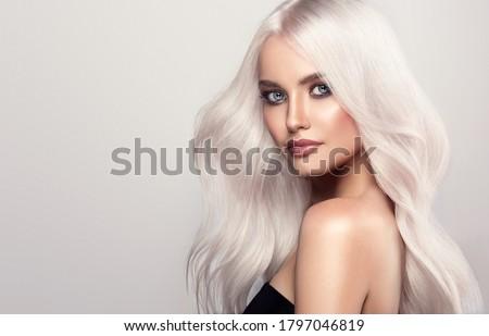 блондинка красивой молодые павлин Перу Сток-фото © disorderly