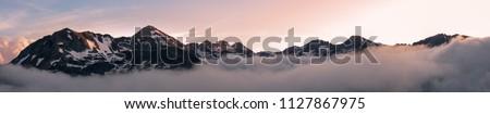 Dawn in the Pyrenees Stock photo © pedrosala