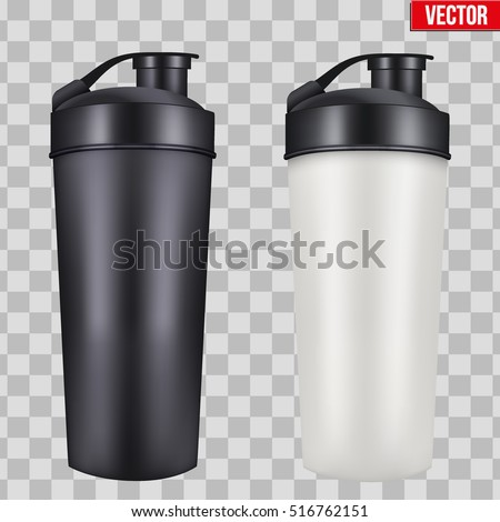 Sport nutrition drink bottle for fitness, on isolated background. Whey protein and gainer, vector il Stock photo © ikopylov