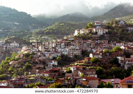 Agros, a village on the Troodos Mountains, in the region of Pits Stock photo © Kirill_M