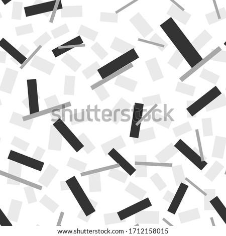 вектора бесшовный черно белые прямоугольник линия Сток-фото © CreatorsClub