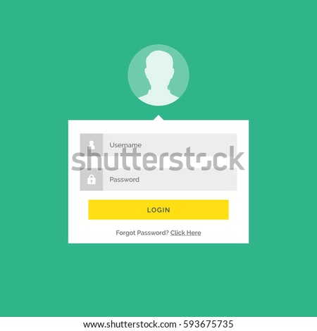 modern login user interface design with form submission details Stock photo © SArts