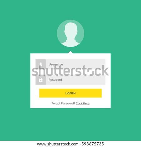 Modern giriş kullanıcı arayüz dizayn form Stok fotoğraf © SArts