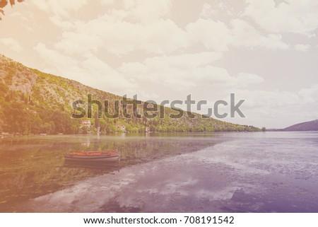 Fotó aranyos csónak tenger csodálatos szigetek Stock fotó © Massonforstock