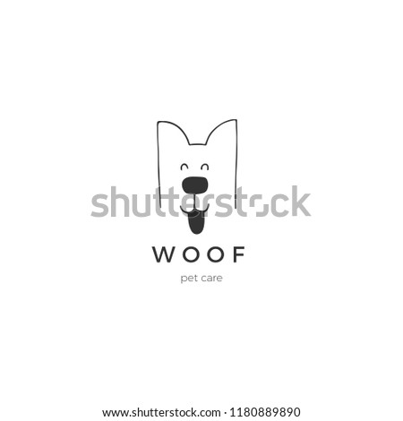 Pet dog logo silhouette minimalist vector element on background add to lightbox download comp stopboris Image collections
