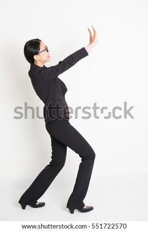 Portret zakenvrouw voortvarend iets witte jonge Stockfoto © wavebreak_media