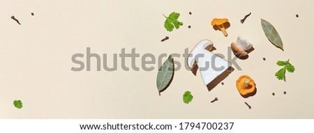 autumn cooking  background;  seasoning forest organic porcini Mu Stock photo © Konstanttin